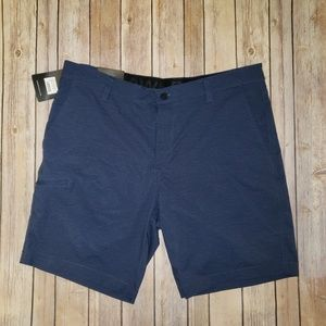 Men's Navy stretch woven short size 36